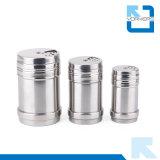 Vaso dell'agitatore & della spezia di sale e di pepe dell'acciaio inossidabile di alta qualità con il coperchio rotativo