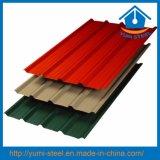 Folhas de metal de aço dos revestimentos do telhado/parede da cor ondulada de grande resistência