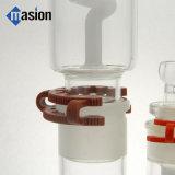 Tubo de agua que fuma de cristal espiral en línea (POR 003)
