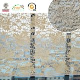 2017 bei del reticolo del tessuto del merletto ed i più nuovi disegni di nylon floreali Ln10040