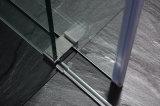 Deslizando o cerco do chuveiro do banheiro com frame da parede do aço inoxidável (UPC-05)