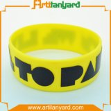 Wristband di gomma personalizzato del silicone con il disegno