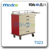 Colour Steel Meidcal Anesthetic Trolly