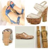 Woodgrain-Muster-synthetisches Leder für die Frauen-Schuhe, die Aktien (HST211, haben)