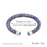 2017 Brand Crystal Wrap Braceletes Bangles Pulseiras de punho de poeira de cristal para jóias de moda feminina (TB-004 pulseira única)
