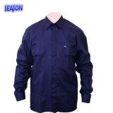 濃紺T/Cのジャケットの防護衣PPEのWorkwearの仕事着