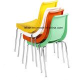 Удобные Stackable пластичные кофеий металла и стул обедать (LL-0062)