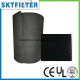 Medias de filtrage de charbon actif pour l'épurateur d'air