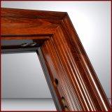 Porte en acier de garantie du modèle le plus neuf avec le traitement de porte de blocage de porte de bonne qualité