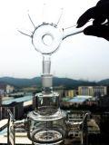 Neuer weißer Jade-Gelb-Ente-Filtrierapparat-rauchendes Wasser-Glasrohr