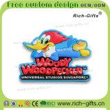 Souvenir respectueux de l'environnement personnalisé Woody Woodpecker (RC- USA) d'aimants de réfrigérateur de cadeaux promotionnels