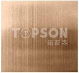 201 304 316 placa decorativa de acero inoxidable con acabado rayita