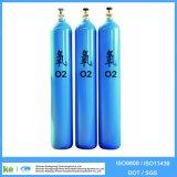 Cylindre du cylindre de gaz de CO2 d'hélium d'argon de l'oxygène d'acier sans joint CNG (en ISO9809 /GB5099)