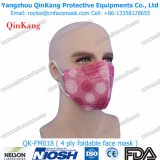 Tipo plano vertical protector personal máscara del doblez de la seguridad