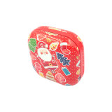 Rectángulo del estaño del embalaje de la decoración de la manera del festival de la categoría alimenticia del caramelo de la galleta (S001-V5)