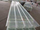 La fibre de verre ondulée de panneau de FRP/toiture transparente en verre de fibre lambrisse W171020