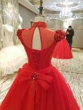 Новые платья венчания замужества длины пола прибытия 2017 красные