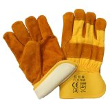 Thinsulate voller Futter-Winter-warme Leder-Arbeits-Handschuhe