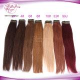 Wholsale 가격 모든 색깔 Virgin 머리 똑바른 사람의 모발 연장