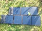 caricatore pieghevole solare 50W con quattro colori e Efficiance chiaro