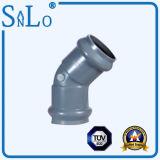 Ouble que carrega 45 o encaixe de tubulação do cotovelo UPVC/Ppv/PVC do grau de Sanlo