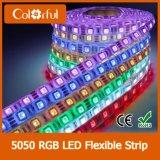 Luz de tira do diodo emissor de luz do jogo DC12V RGB SMD5050 da embalagem da bolha