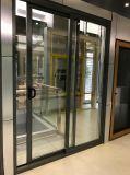 Тип окно Австралии алюминиевой панели рамки стеклянной сползая с сетью москита