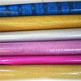 Umweltfreundliches Funkeln PU-Leder für Dekoration (HTS053)