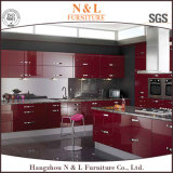 N&Lの現代光沢度の高い台所家具MDFのラッカー食器棚