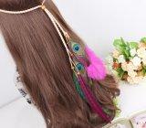 Joyería rosada del pelo de la pluma para la venda