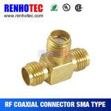 Femelle de l'adaptateur SMA de T pour doubler les connecteurs électriques femelles de SMA