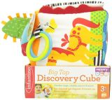 Giocattolo di sviluppo del cubo di scoperta della peluche per il bambino