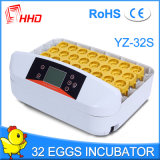 Яичка цыпленка Hhd польностью автоматические 32 насиживая машину (YZ-32S)