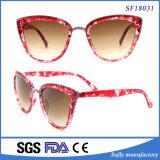 Sehr Katzenauge-Art Demi Rahmen-Form-Sonnenbrillen der Famouse Dame-
