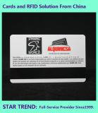 Cafeteria-Karte gebildet vom Plastik mit magnetischem Streifen (ISO 7811)