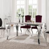 최신 판매 대리석 최고 스테인리스 프레임 식당 Furnituredining 테이블 세트