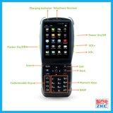 Unité de collecte de données mobile PDA tenu dans la main avec le scanner de code barres de lecteur de Bluetooth NFC du WiFi 3G