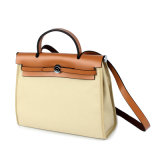 Signora piacevole Stylish Canvas Handbag di colore di contrasto del progettista