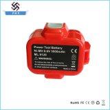 Reemplazo 9.6V 3000mAh Ni-MH de la batería de la herramienta eléctrica para Makita
