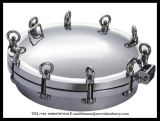Coperchio rotondo di Manway della rotella dell'acciaio inossidabile di Manways di pressione dell'acciaio inossidabile