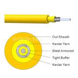 Cavo ottico corazzato della fibra di singolo modo del cavo della fibra