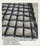 鉱山の振動スクリーンのためのひだを付けられた鋼線の編まれた網