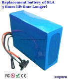16 batería verdadera de la capacidad 48V 12ah LiFePO4 de la serie 16s