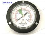 Gpg-011黒い鋼鉄乾燥した圧力計の/Frontのフランジの空気の圧力計