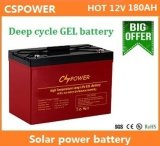батарея геля длинной жизни цикла 12V 180ah глубокая для солнечного изготовления Китая хранения