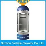 Sin sala de máquinas de bajo ruido panoranic Ascensor Ascensor con Full Ver Sightseeing cristal