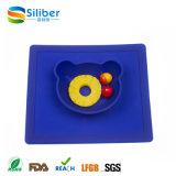 Silicone antisdrucciolevole Placemat del bambino di norma alimentare della FDA