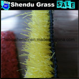 20mm 30mmの高さの黄色い人工的な草