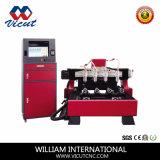 Máquina de madeira do router do CNC da eficiência elevada com funcionamento de 6 Rotaries (VCT-3512R-6H)