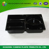 Schwarze Farben-Mikrowellen-sicherer Plastikwegwerfverpacken- der Lebensmittelbehälter